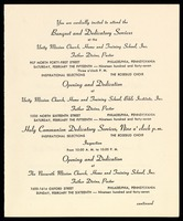 Invitation. Banquet and Dedication Services by Father Divine