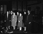 Cong[ressman Walter Henry] Judd at H[oward] U[niversity] Chapel, Jan[uary], 1950 [cellulose acetate photonegative]
