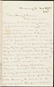 Letter from Deborah Weston, Chauncy Pl[ace], [Boston, Mass.], to Henry Grafton Chapman and Maria Weston Chapman, Feb. 7th, 1841