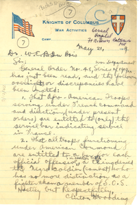 Letter from Clinton H. Wooding to W. E. B. Du Bois