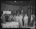 African American soldiers entertain at Camp Ord, Monterey Bay Peninsula (Calif.)