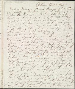 Letter from Richard Davis Webb, Dublin, [Ireland], to Miss Weston, April 4, 1851