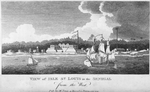 View of Isle St. Louis in the Senegal from the West