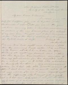 Letter from Deborah Weston, The Vestry of the Methodist Church, 4th Street, New Bedford, [Mass.], to Lucia Weston and Emma Forbes Weston, Oct. 27th 1841