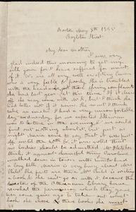 Letter from Deborah Weston, Boylston Street, Boston, to Ann Bates Weston, May 8th, 1835