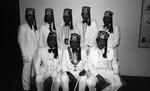 Al Koran members posing for a group portrait, Los Angeles, 1985