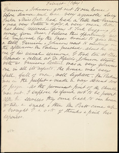 Extract of letter from Anne Warren Weston, [Weymouth, Mass.], [Dec. 4th, 1839]