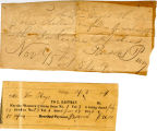 Hayes Misc. Receipts, 1846-1847, Newspaper Subscription