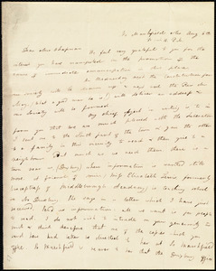 Letter from Louisa Phillips, No[rth] Marshfield, Ma., to Maria Weston Chapman, Aug. 6th, [1838], 1/2 past 11 P.M