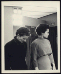 Elizabeth Montgomery (of Motley) and Eartha Kitt during fitting at Brooks Costume Company for the stage production Shinbone Alley