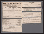 LaSalle Theatre, Girl question (August 17, 1907) Girl question