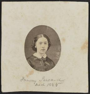 Albumen portrait of Fanny Seward mounted on paper