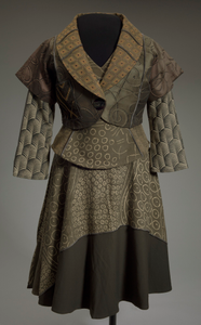 Jacket, top, and skirt designed by Damali and worn by Dr. Johnnetta B. Cole