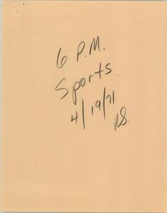 News Script: 6 p.m. sports