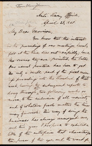 Letter from Oliver Johnson, [New York, N.Y. ?], to William Lloyd Garrison, April 28, 1860