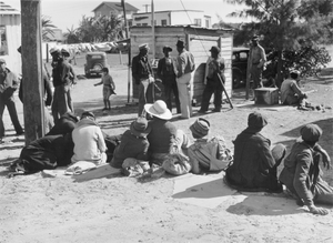 Gathering of black men