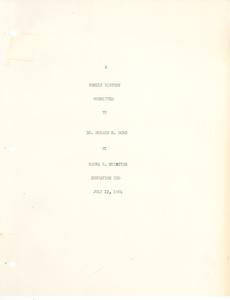 Student family histories: McIntyre, Marva (Crayton, Wallace, Halloway)