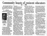 Historical perspective: Community boasts of eminent educators--Influential people of the 20th century, Part 9
