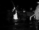 Congregant Baptized at Griffith Stadium [Elder Lightfoot Solomon Michaux and Church of God] [cellulose acetate photonegative]