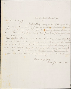Letter from Martha J. Henshaw, West Brookfield, [Massachusetts], to Samuel May, [18]53 Jan[uary] 26th