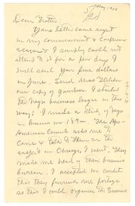 Letter from W. E. B. Du Bois to William Monroe Trotter