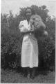 Thelma Jackson with dog