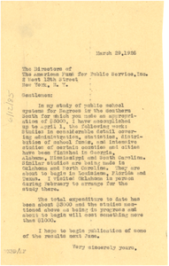 Letter from W. E. B. Du Bois to American Fund for Public Service
