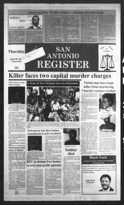 San Antonio Register (San Antonio, Tex.), Vol. 60, No. 2, Ed. 1 Thursday, April 25, 1991 San Antonio Register