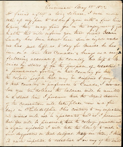 Thumbnail for Letter from George Cary, Cincinnati, [Ohio], to William Lloyd Garrison, 1832 May 15