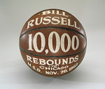 Basketball, awarded to Bill Russell for 10,000 Rebounds