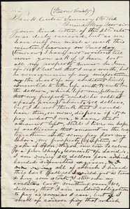 Letter from Lewis Ford, Sauk Centre, [Minnesota], to Samuel May, Jr., January 6th, 1862