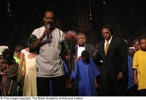 Curtis King on Stage with Performers Hip Hop Broadway: The Musical