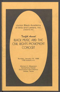 Program: Twelfth Annual Black Music and the Civil Rights Movement Concert