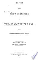 Report of the Joint Committee on the Conduct of the War /