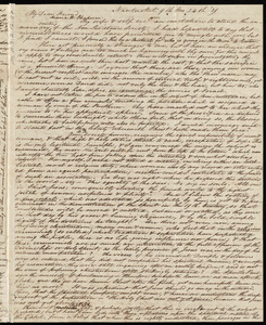 Letter from Nathaniel Barney, Nantucket, [Mass.], to Maria Weston Chapman, 9th mo[nth] 24th [day] [18]39