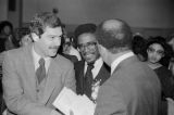 Richard Arrington greeting supporters on the day of his inauguration as the first African American mayor of Birmingham, Alabama.