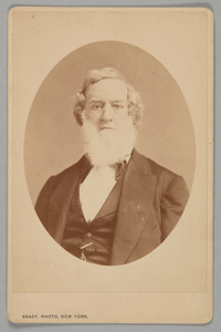 Cabinet card of Gideon Welles