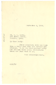 Letter from W. E. B. Du Bois to B. M. Roddy