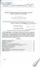 District of Columbia Fair and Equal House Voting Rights Act of 2006 : report (to accompany H.R. 5388) (including cost estimate of the Congressional Budget Office)