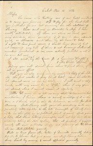 Letter from H. Jones, Cabot, [Vermont], to William Lloyd Garrison and Isaac Knapp, 1833 Nov[ember] 15