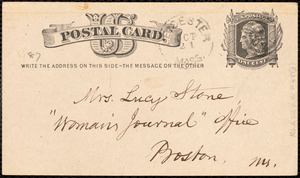 Letter from Samuel May, Jr., Leicester, [Mass.], to Lucy Stone, 21st Oct[ober 1878]