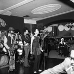 Musicians performing in a club, Los Angeles, 1970