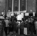 Demonstrators protesting police brutality and the all-white county personnel board in Mobile, Alabama.
