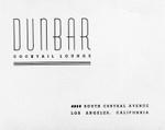 Handbill for the Dunbar Cocktail Lounge