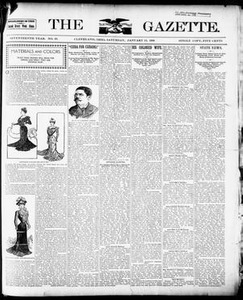 The Gazette. (Cleveland, Ohio), Vol. SEVENTEENTH YEAR, No. 23, Ed. 1 Saturday, January 13, 1900 The Gazette