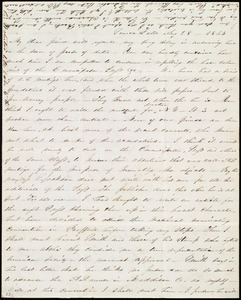 Thumbnail for Letter from Abby Kelley Foster, Seneca Falls, [NY], to Maria Weston Chapman, Aug. 28, 1843