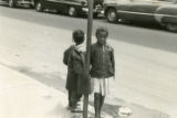 Two young girls on Lawrence Street