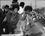 Michael Jackson in a parade, Los Angeles, ca. 1973