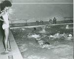 [Swimmers in swimming pool, Howard University : photoprint, ca. 1960s.]