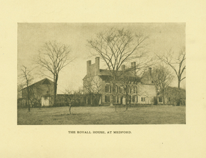 Exterior view of the Royall House and Slave Quarters, Medford, Mass., undated
